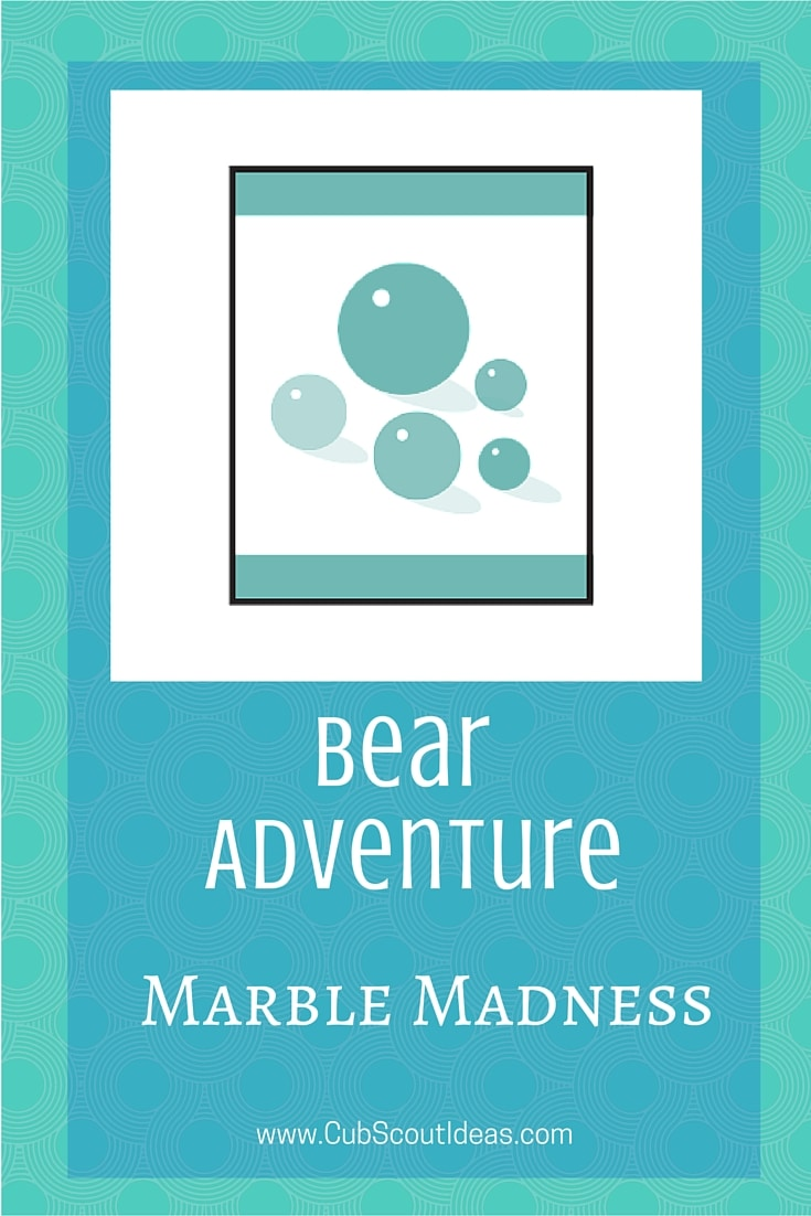Bear Cub Scout Marble Madness