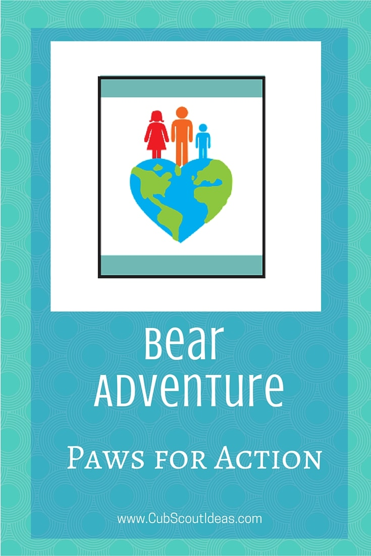 Bear Cub Scout Paws for Action
