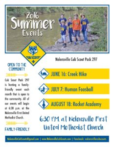 Cub Scout Pack Summer Activities
