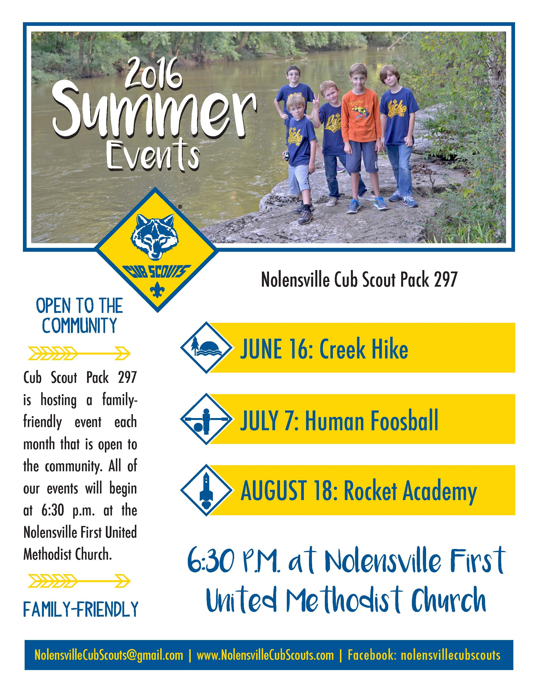 cub scout summer activities