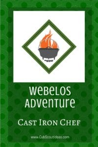 Webelos Cast Iron Chef