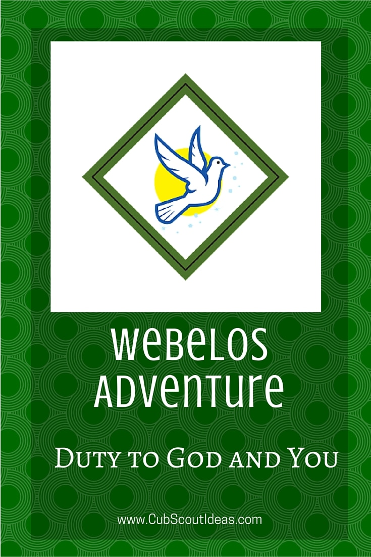 Webelos Duty to God and You