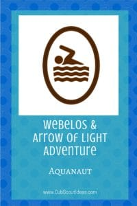 Webelos Arrow of Light Aquanaut