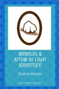 Webelos_AoL Earth Rocks