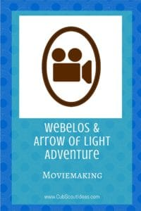 Webelos_AoL Movie Making
