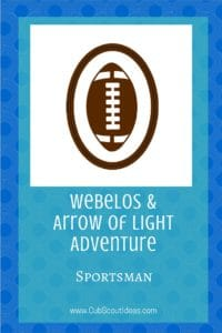 Webelos Arrow of Light Sportsman