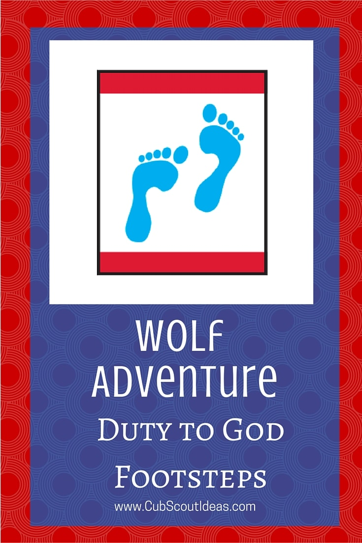 Cub Scout Wolf Duty to God Footsteps