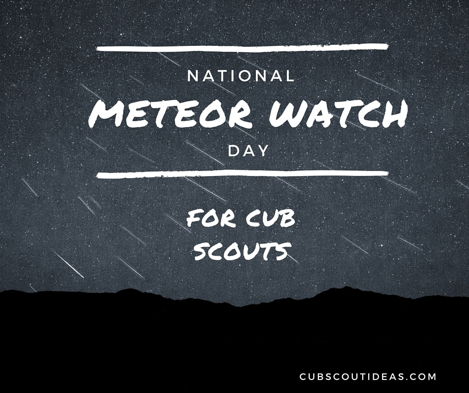cub scout meteor watch day
