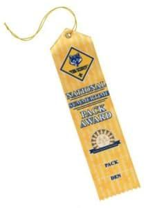 summertime pack award den ribbon