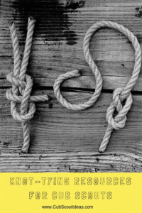Cub Scout Knot Tying