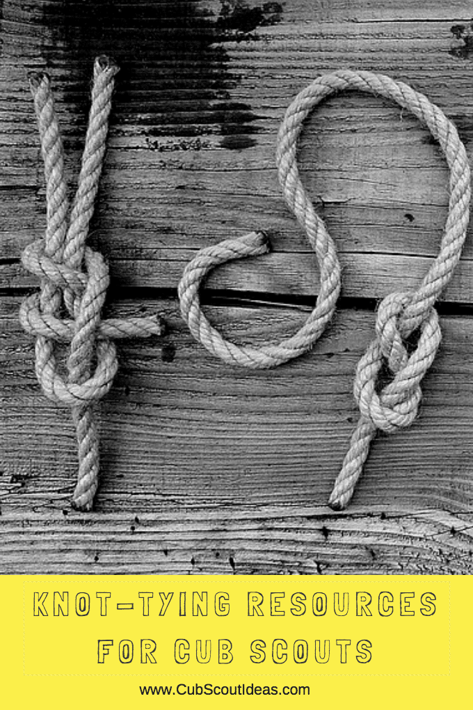 image about Printable Knot Tying Cards named Cub Scouts: Rope Knot Tying