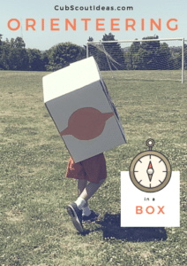 Cub Scout orienteering in a box