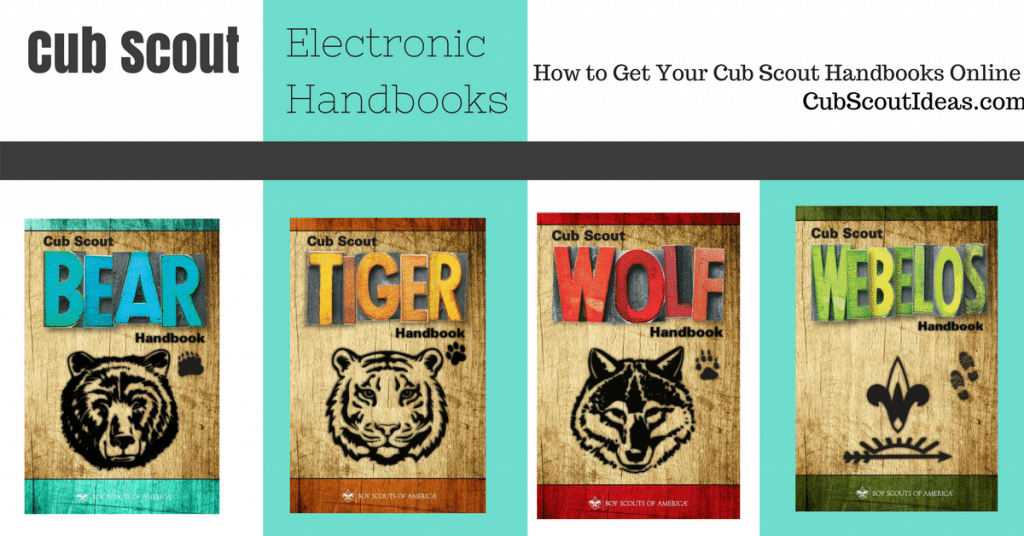 Cub Scout handbooks available electronically