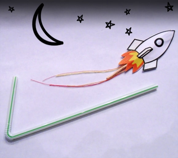 drinking straw rockets