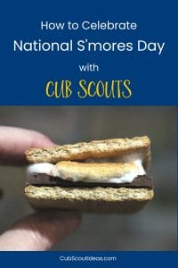national smores day with cub scouts