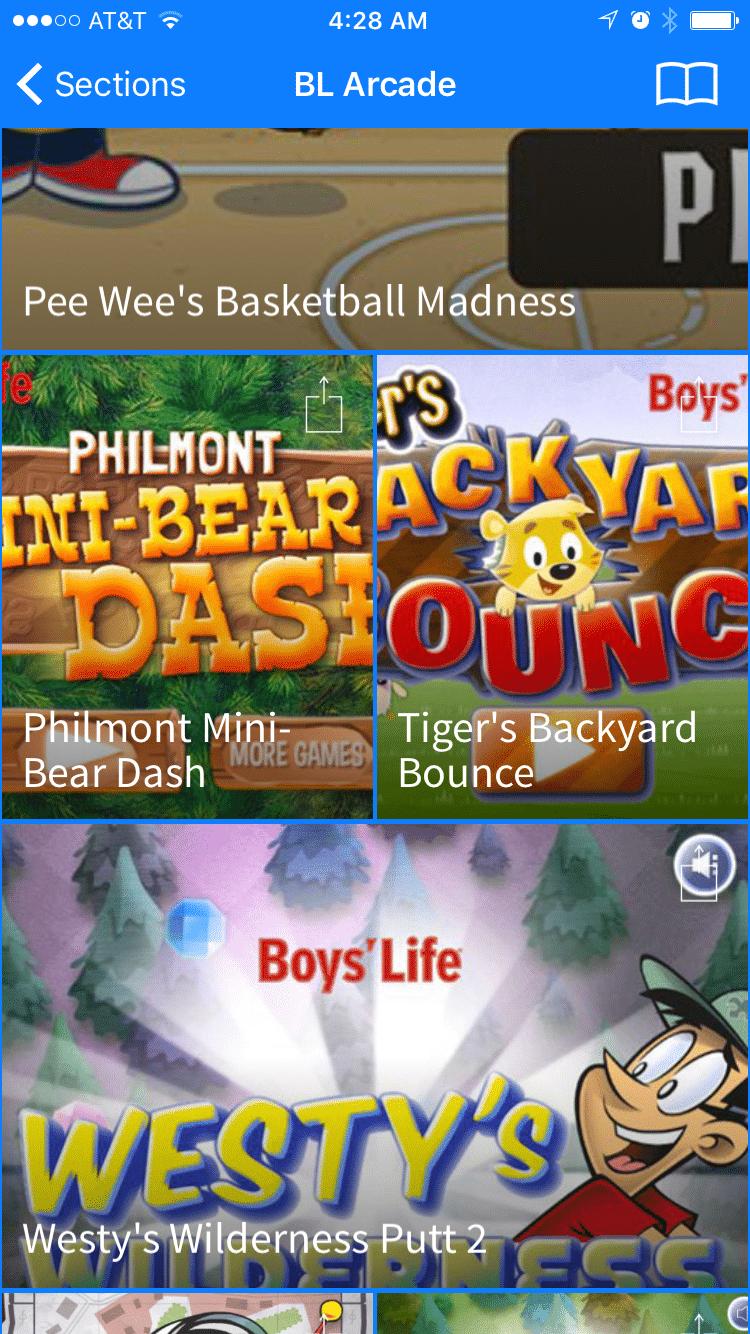 boy's life magazine arcade