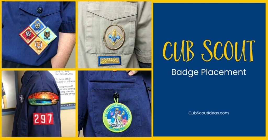 Cub Scout Patch Placement f
