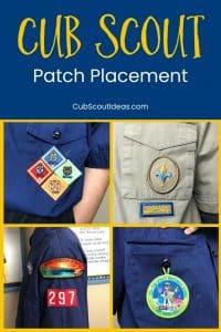 Cub Scout Patch Placement p