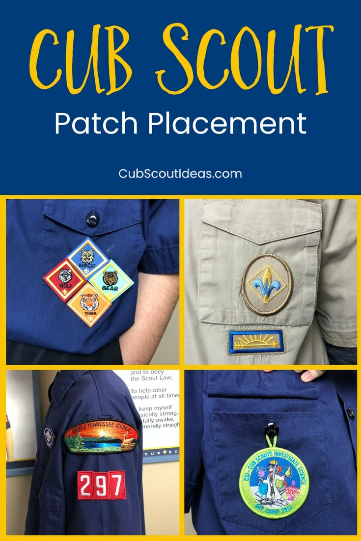 Boy scout patch placement diagram | patch placement | nas.