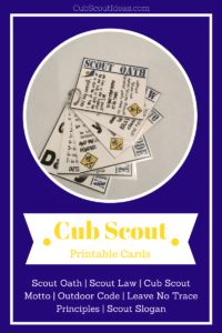 image about Scout Law Printable titled Printable Cub Scout Playing cards: Exciting Device Cub Scout Designs