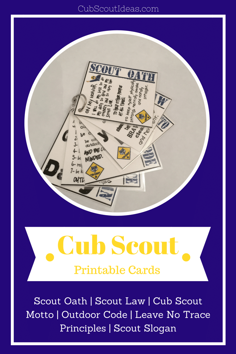 Printable Cub Scout Cards:  Fun Resource