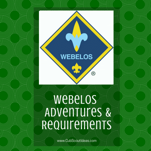 webelos adventures requirements