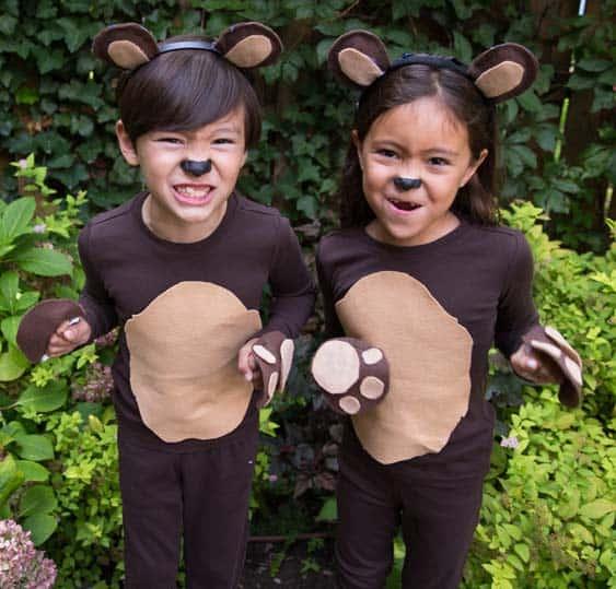beruang kostum diy