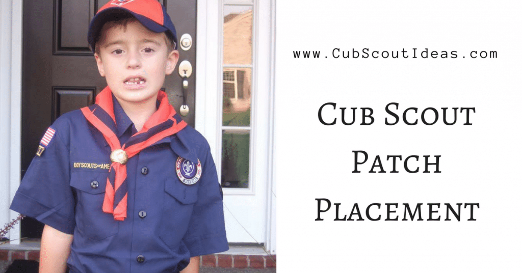 location of cub scout patches on uniform