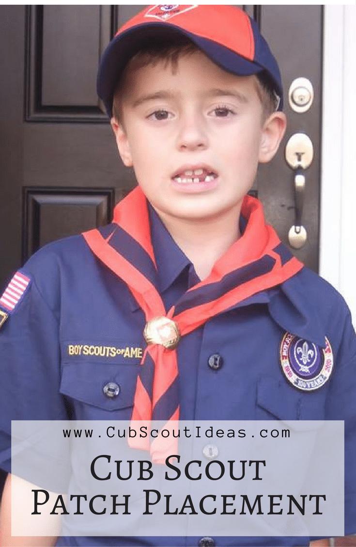 Cub Scout Patch Placement Guide for Parents