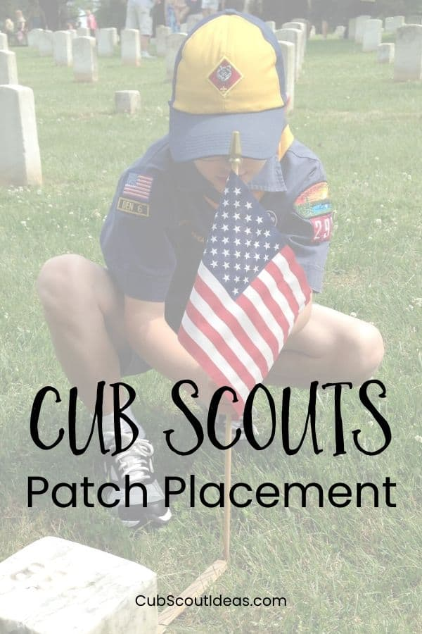cub scout insignia placement