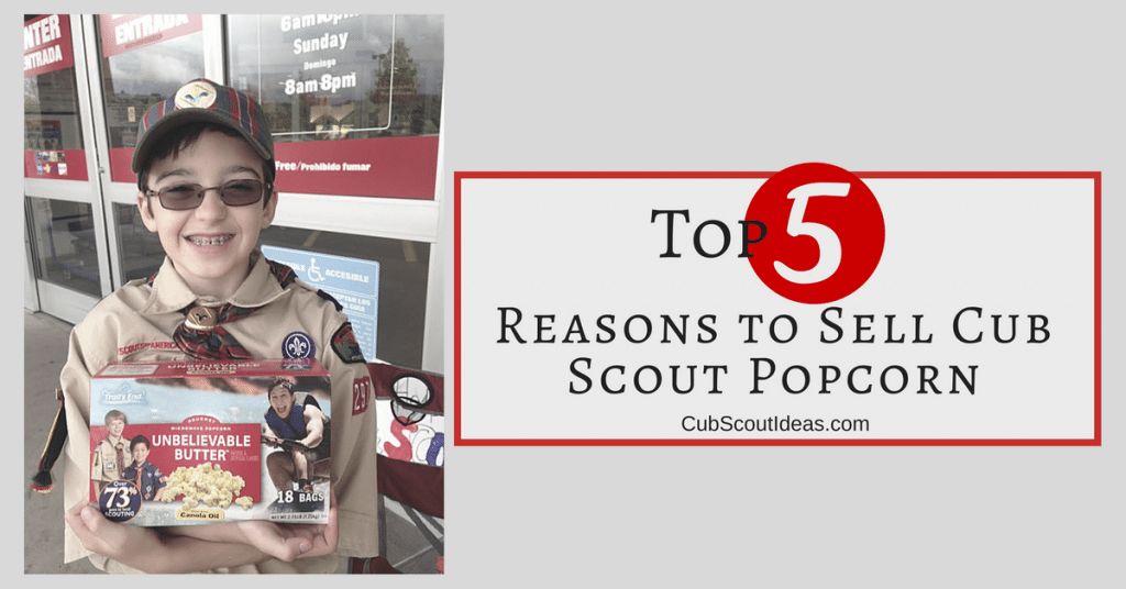 reasons to sell cub scout popcorn