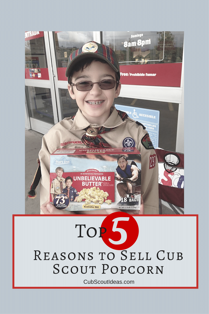 Cub Scout popcorn sales don't just raise money for your pack. They also give your son opportunities to practice important life skills.  If you're looking for ideas to share at your Cub Scout popcorn sales kickoff, share this information. It'll tell parents what their sons can learn--whether selling door to door or at your show and sell booth or table.