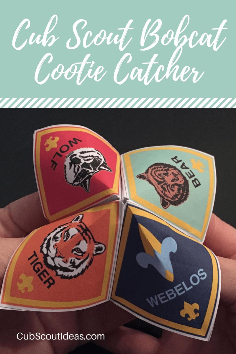 Cub Scout Bobcat Cootie Catcher