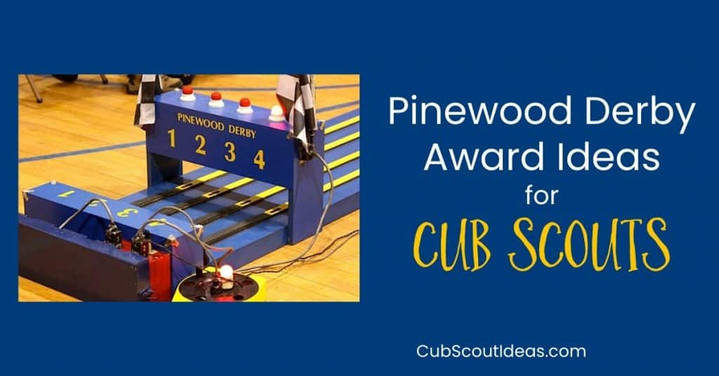 award ideas for pinewood derby