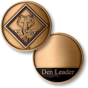 cub scout leader coin
