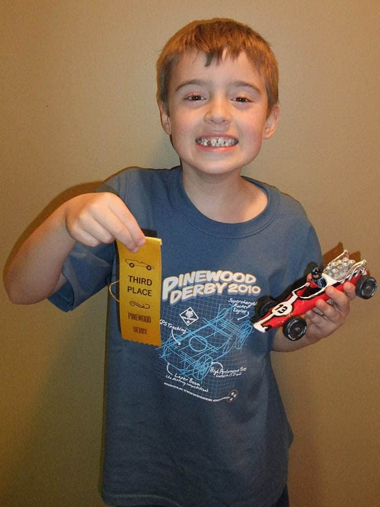 first cub scout pinewood derby