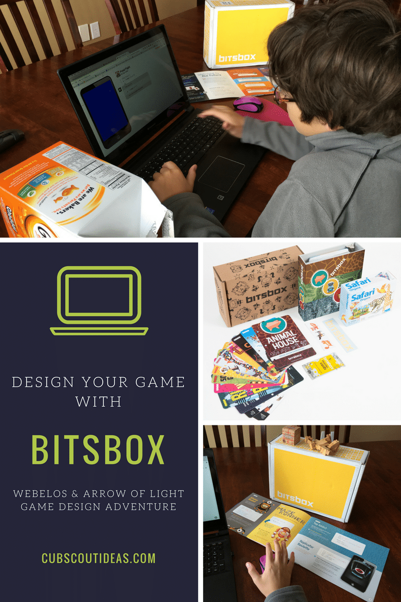 Webelos and Arrow of Light Cub Scouts have a fun elective adventure, Game Design. Find out how they can use Bitsbox to complete this adventure. They'll learn to code their own game apps. The games can be shared with parents or friends.