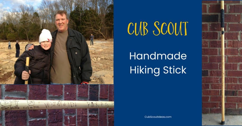 cub scout handmade hiking stick