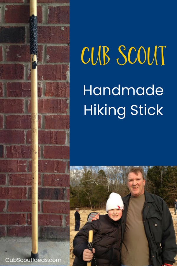 hiking stick handmade by cub scout