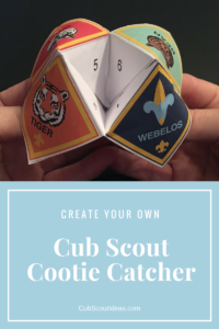 cub scout cootie catcher template