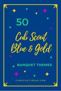 cub scout blue and gold themes