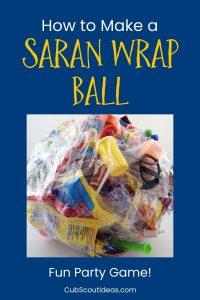 saran wrap tape ball