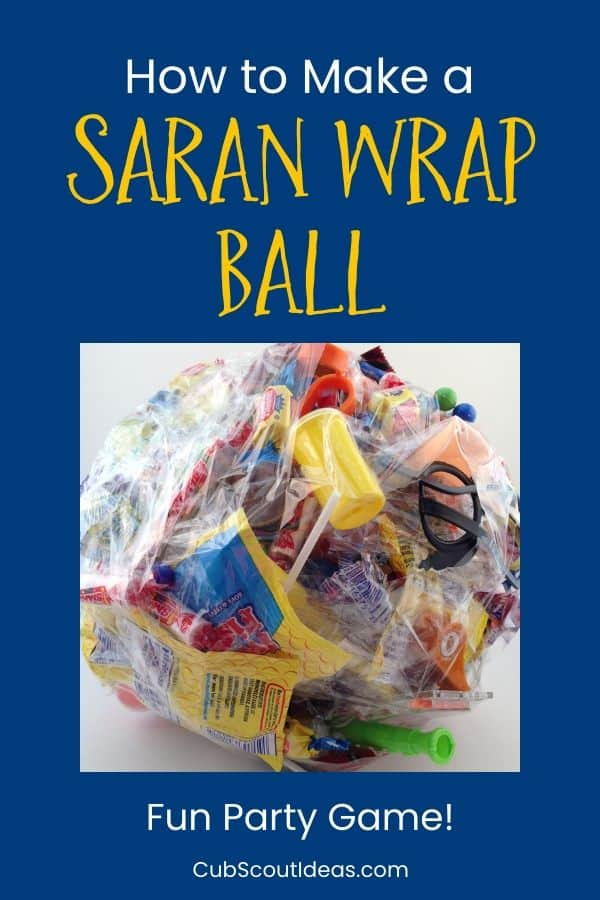 saran wrap tape ball