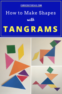 make shapes with tangrams