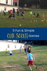 cub scout outdoor games