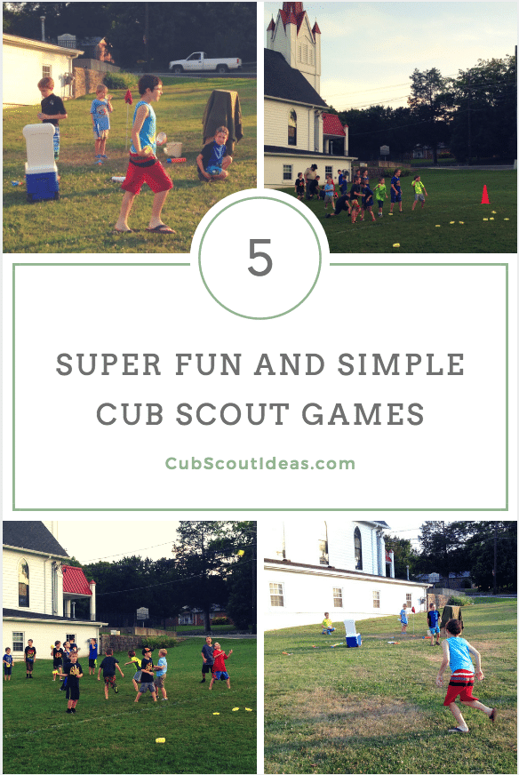 These 5 Cub Scout games are perfect for den meetings.  You can plan these as part of your meeting or they can be spontaneous activities.