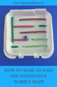 easy marble maze
