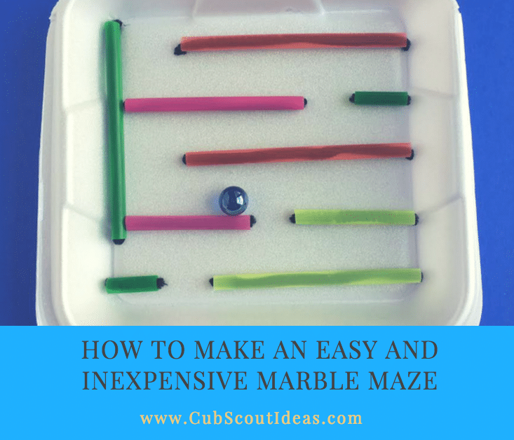 How to Make an Easy and Inexpensive Marble Maze   Cub ...