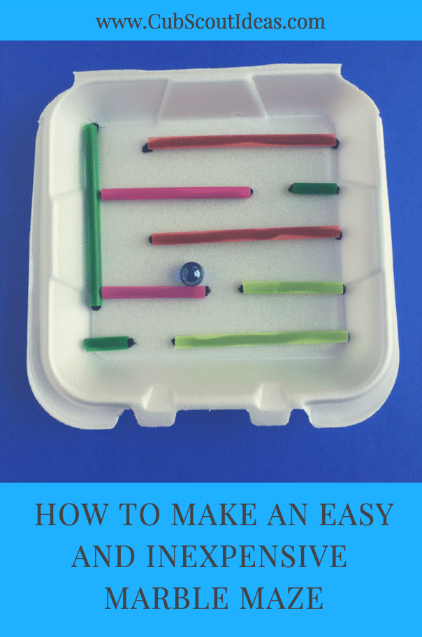 This simple and super quick to make marble maze is also inexpensive!