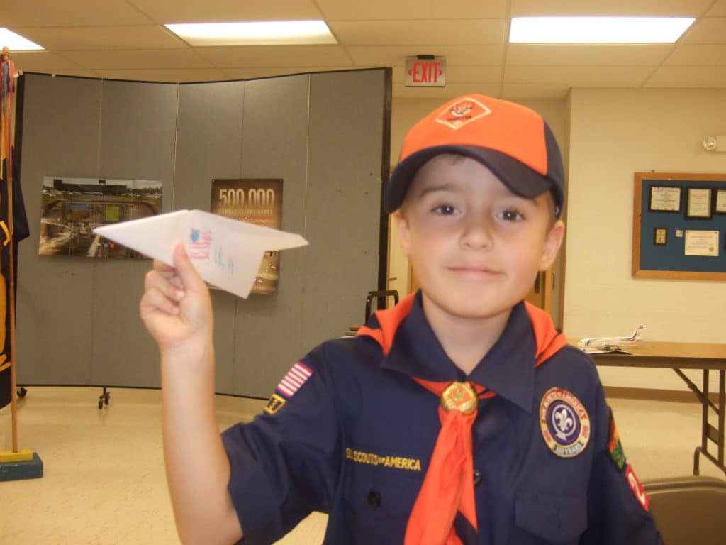 cub scout paper airplane contest